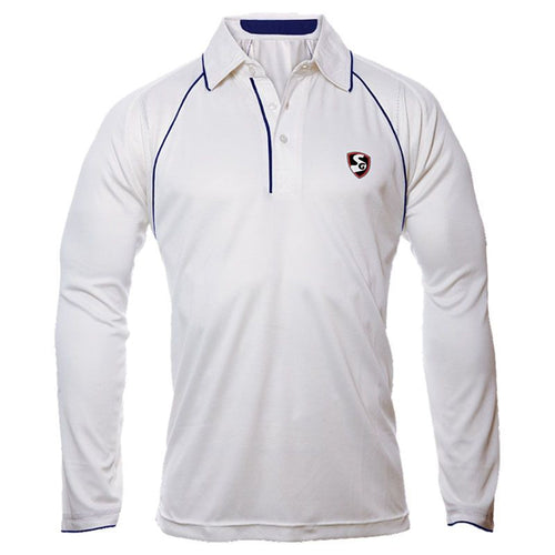 SG Premium Full Sleeves Cricket Shirt (White)