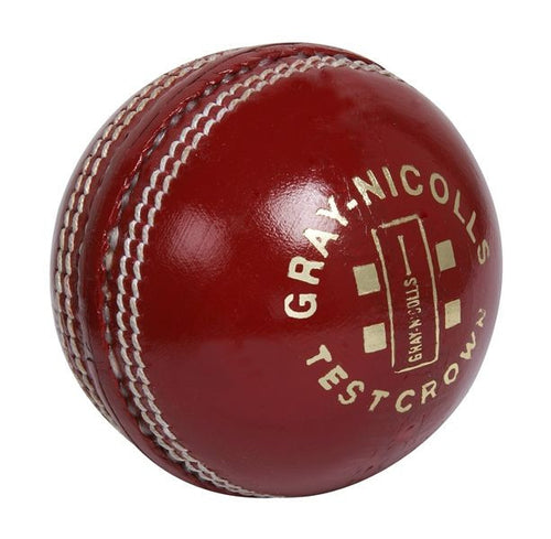 GRAY NICOLLS TEST CROWN Red 4-P Leather Ball