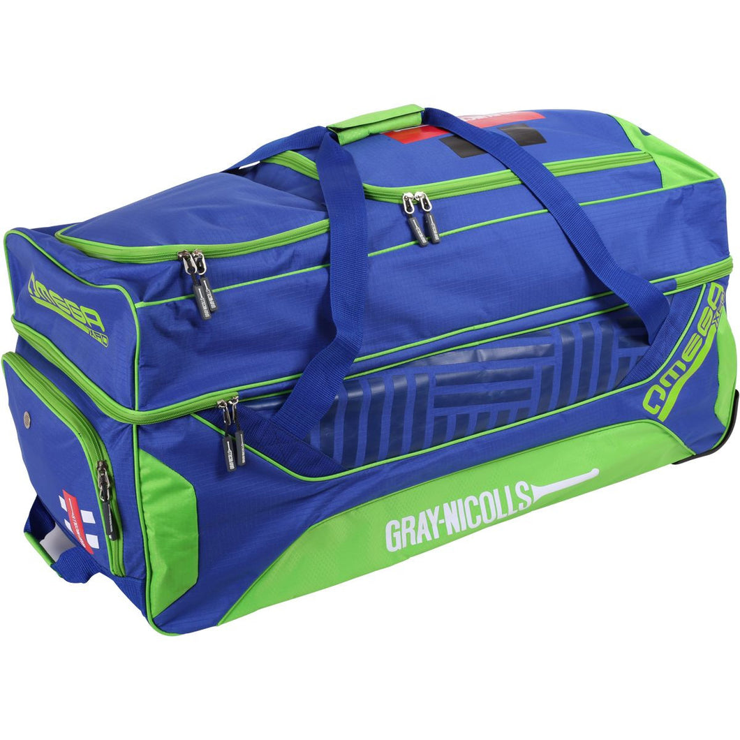 GRAY NICOLLS OMEGA XRD Blue/Lime Kitbag