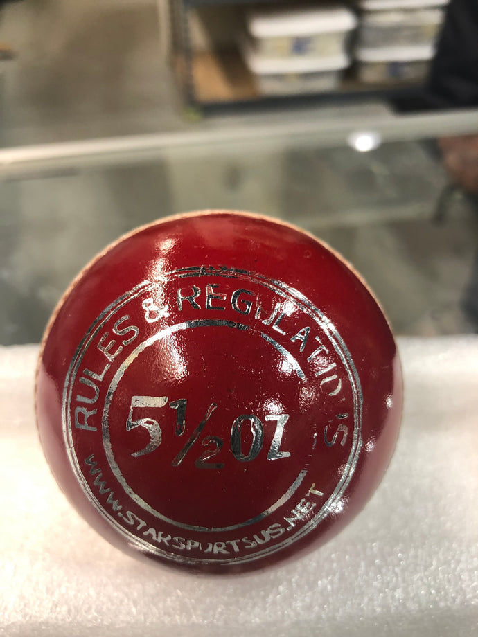 SSU Attack Red Leather Cricket Ball