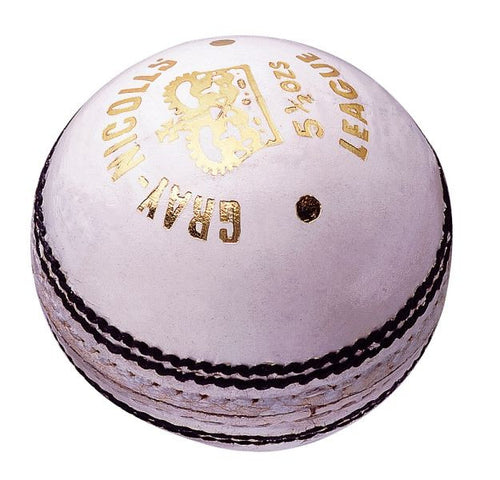 GRAY NICOLLS LEAGUE WHITE Leather Ball