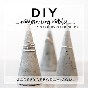 DIY Modern Concrete Ring Holder