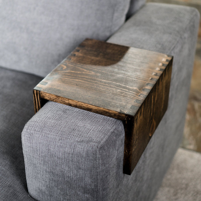 Wood Couch Arm Tray Table Made By Deborah