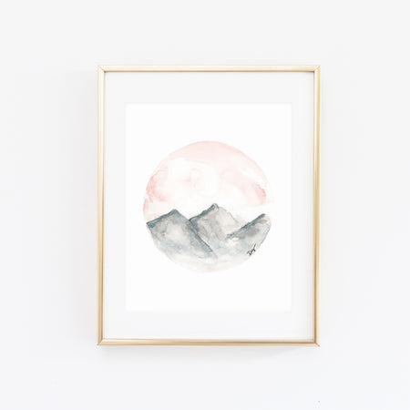 OQUIRRH WATERCOLOR PRINT