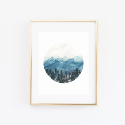 TAHOE DONNER WATERCOLOR PRINT