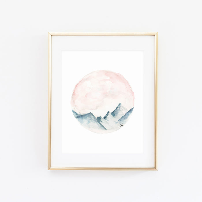 WASATCH MOUNTAIN WATERCOLOR PRINT
