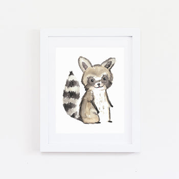 RACCOON WATERCOLOR PRINT