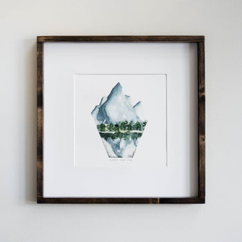 SUNDIAL PEAK WATERCOLOR PRINT