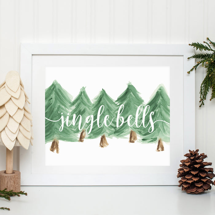 JINGLE BELLS WATERCOLOR PRINT