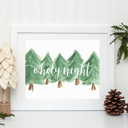 O HOLY NIGHT WATERCOLOR PRINT