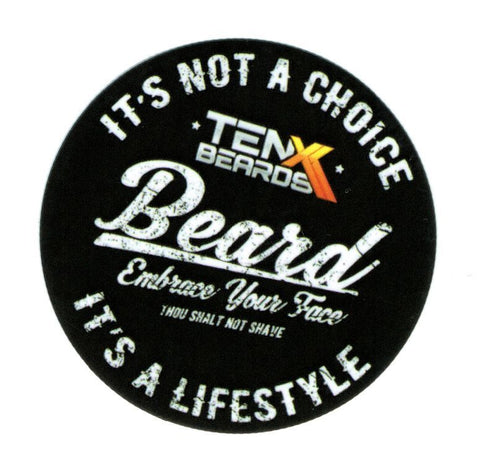 TenX Beards Lifestyle Sticker
