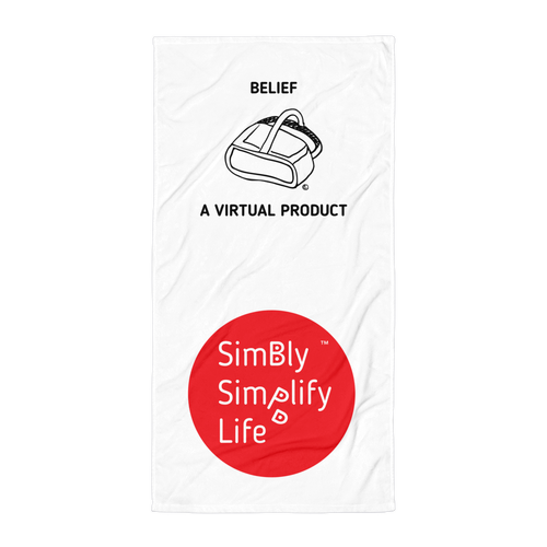 Beach Blanket- SIMBLY SIMPLIFY LIFE- BELIEF. A VIRTUAL PRODUCT