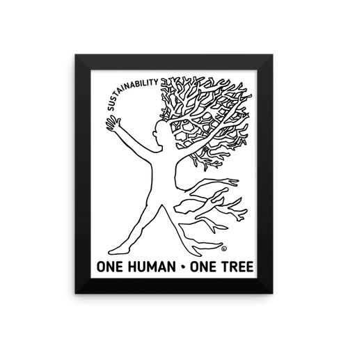 Framed photo paper poster-ONE HUMAN - ONE TREE