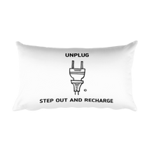 Rectangular Pillow: UNPLUG - STEP OUT AND RECHARGE