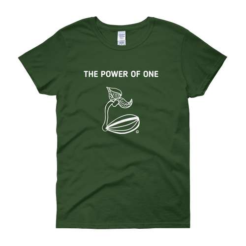 Women's short sleeve t-shirt - THE POWER OF ONE