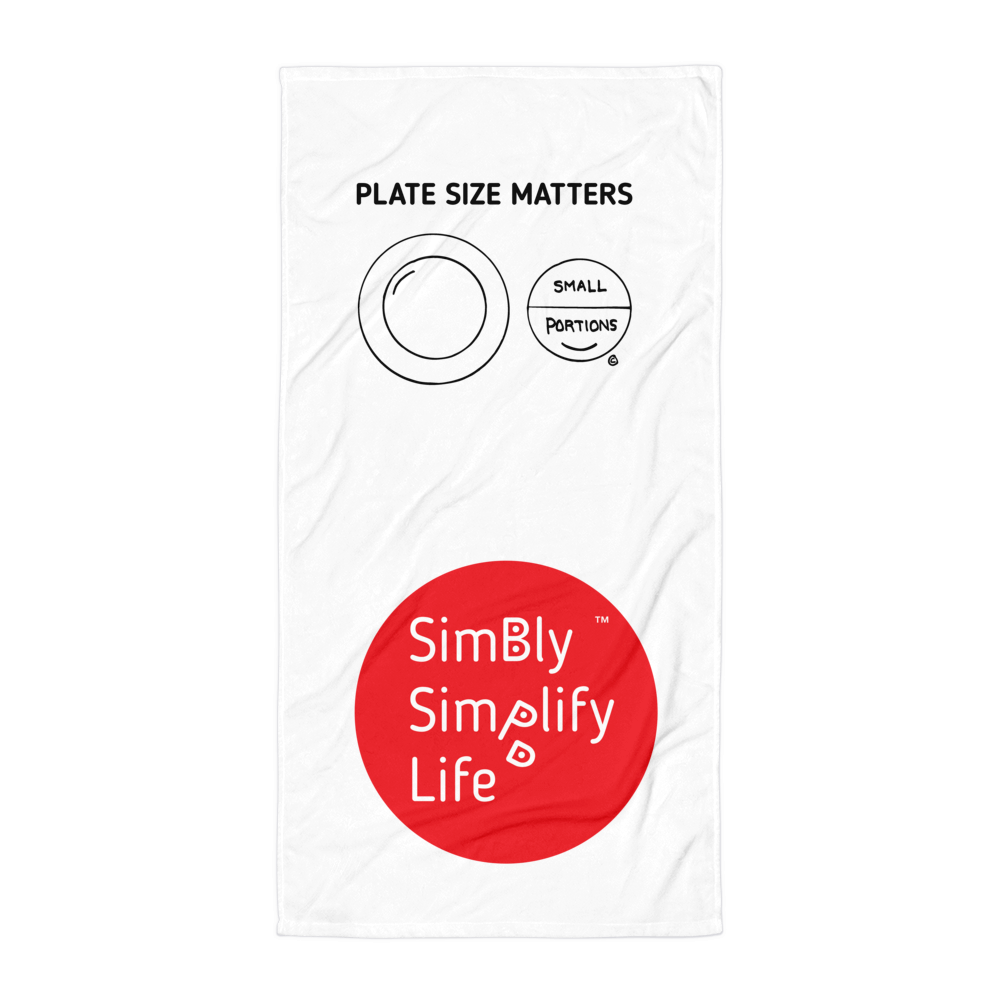 Beach Blanket- SIMBLY SIMPLIFY LIFE- PLATE SIZE MATTERS