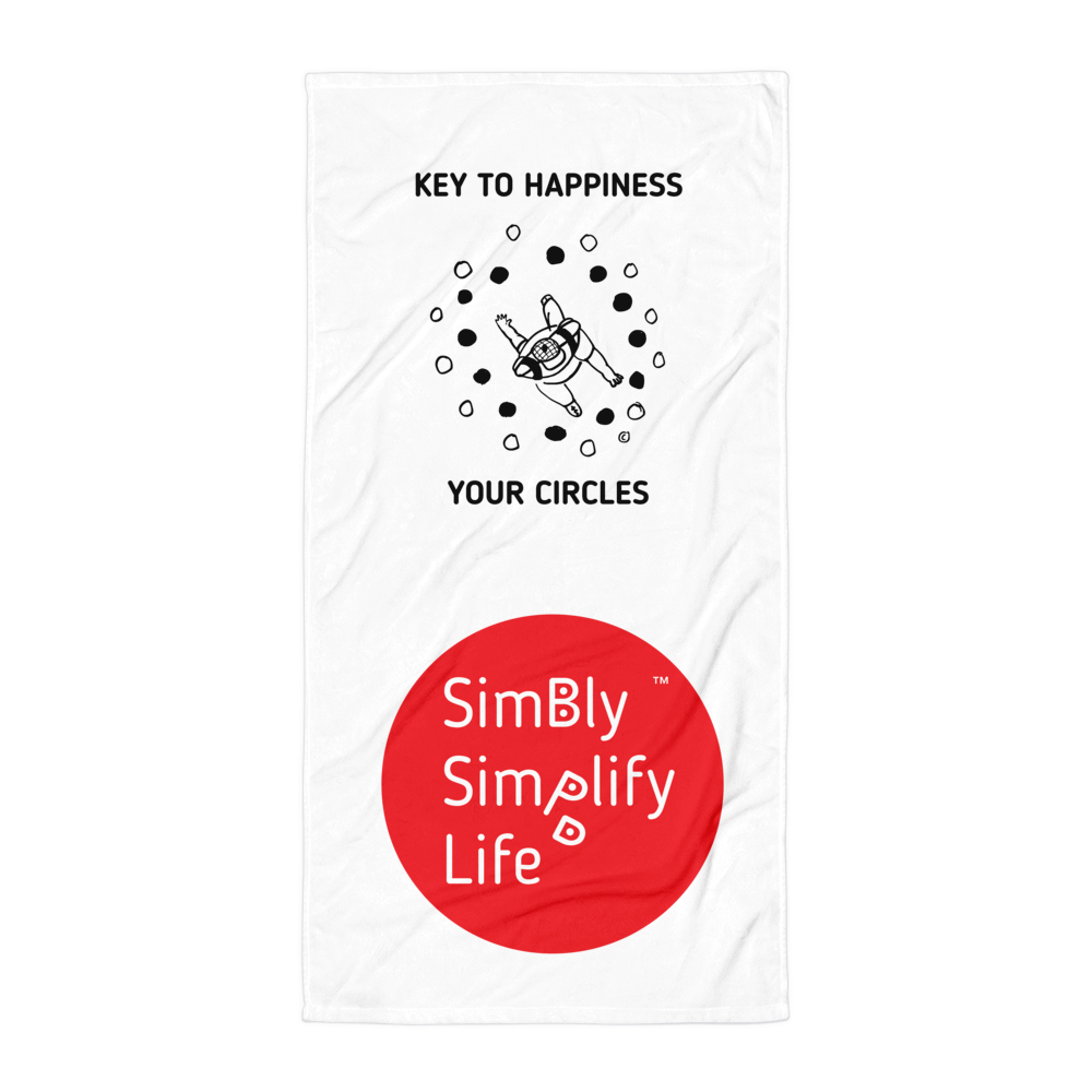 Beach Blanket- SIMBLY SIMPLIFY LIFE- KEY TO HAPPINESS