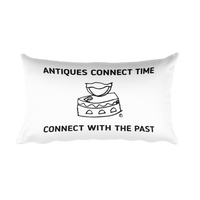 Rectangular Pillow : ANTIQUES CONNECT TIME