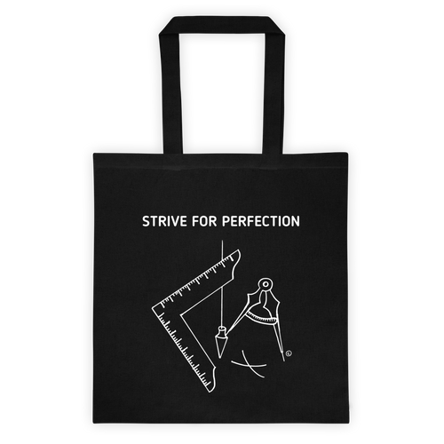 Tote bag-STRIVE FOR PERFECTION