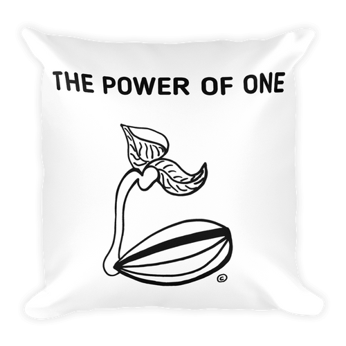 Square Pillow- THE POWER OF ONE