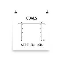 Photo paper poster: GOALS - SET THEM HIGH