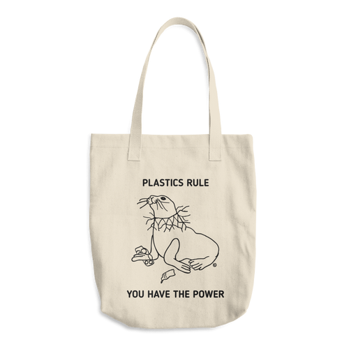 Cotton Tote Bag - PLASTICS RULE, YOU HAVE THE POWER