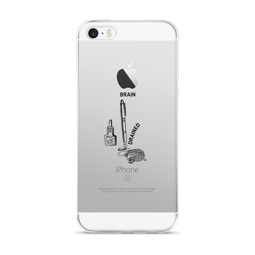 iPhone 5/5s/Se, 6/6s, 6/6s Plus Case- BRAIN DRAINED
