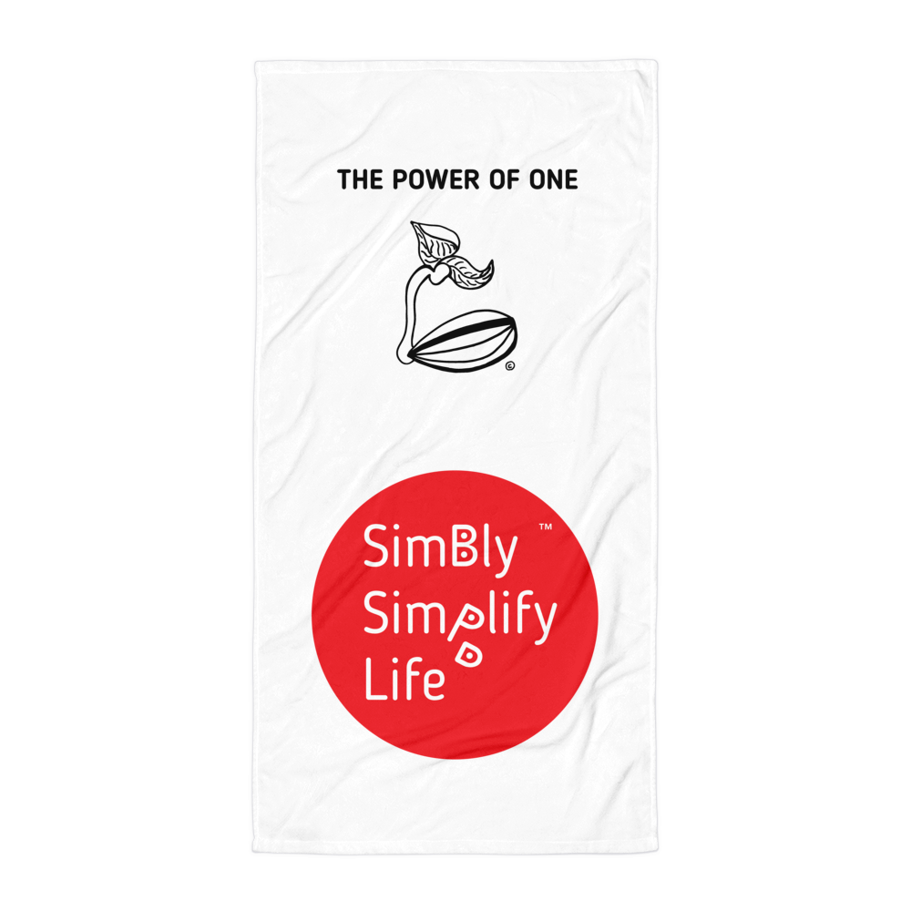 Beach Blanket-SIMBLY SIMPLIFY LIFE- THE POWER OF ONE