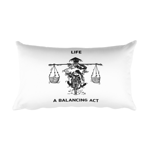 Rectangular Pillow : LIFE - A BALANCING ACT