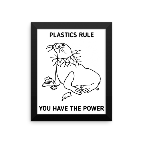 Framed photo paper poster-PLASTICS RULE
