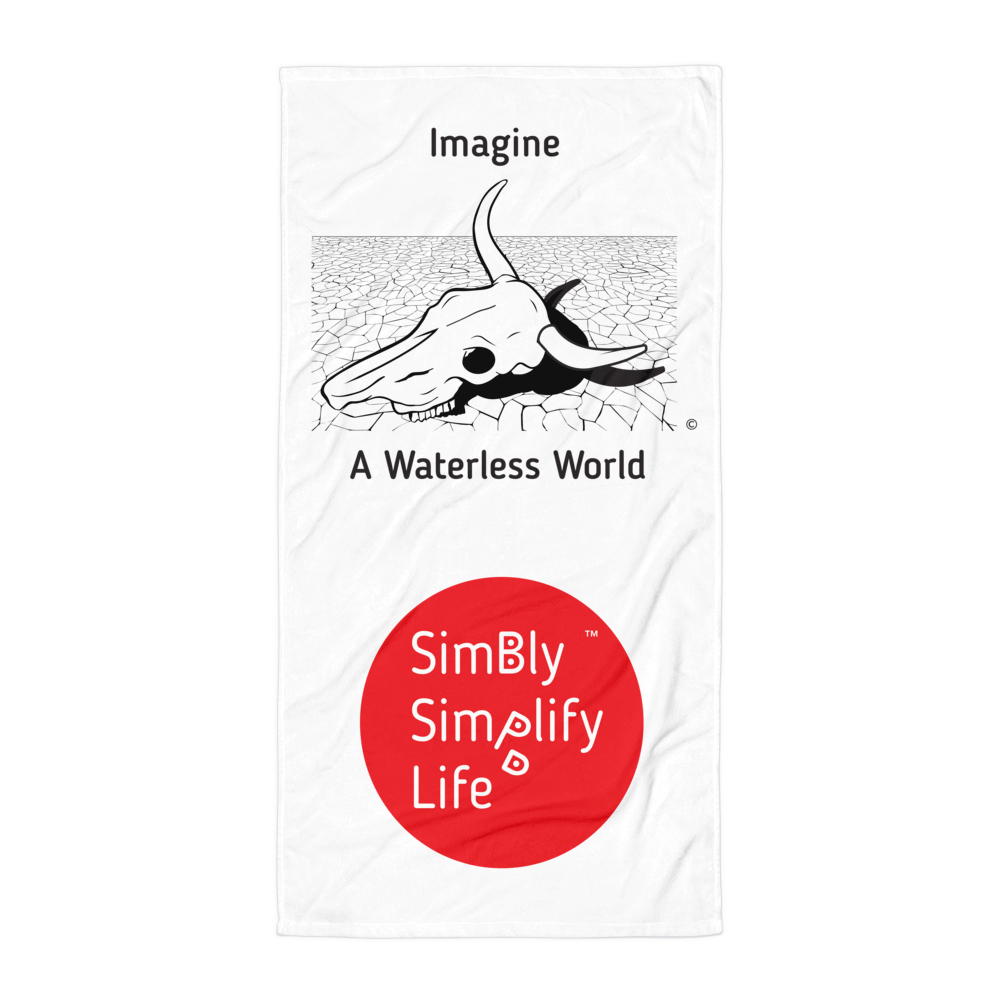 Beach Blanket- SIMBLY SIMPLIFY LIFE, IMAGINE A WATERLESS WORLD