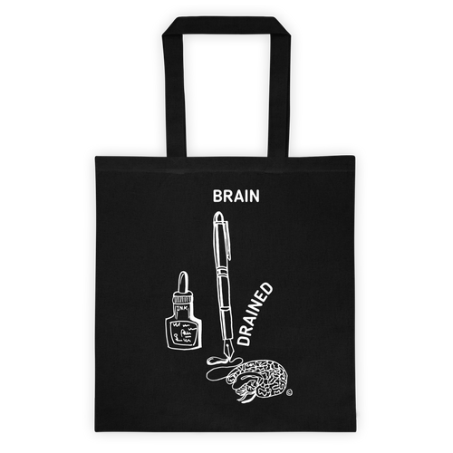 Tote bag-BRAIN DRAINED
