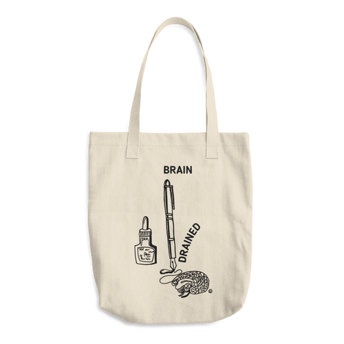 Cotton Tote Bag - BRAIN DRAINED