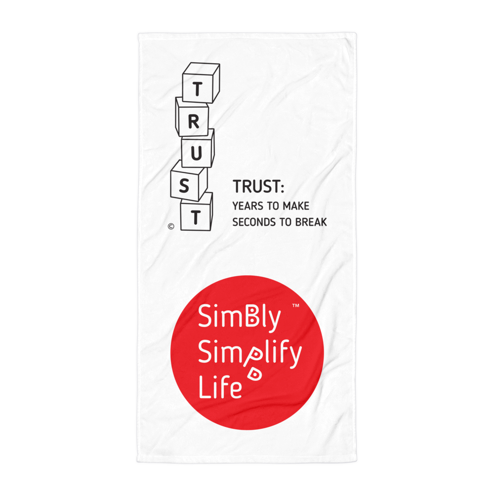 Beach Blanket- SIMBLY SIMPLIFY LIFE-TRUST: YEARS TO MAKE, SECONDS TO BREAK