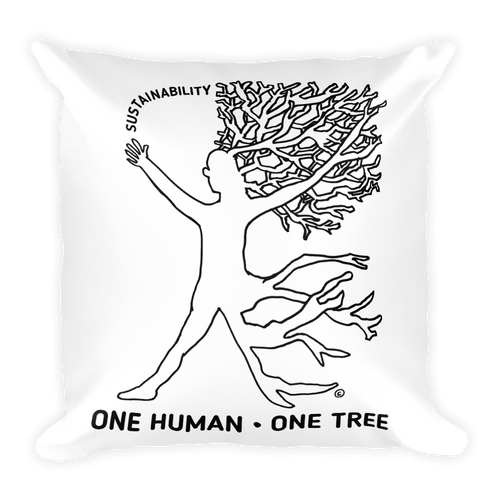 Square Pillow-ONE HUMAN-ONE TREE