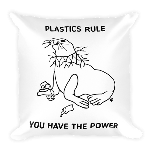 Square Pillow-PLASTICS RULE