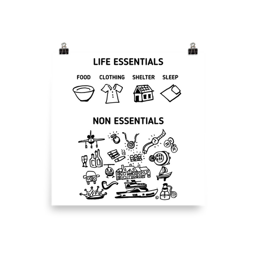 Photo paper poster- LIFE ESSENTIALS