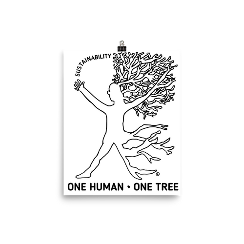 Photo paper poster- ONE HUMAN-ONE TREE