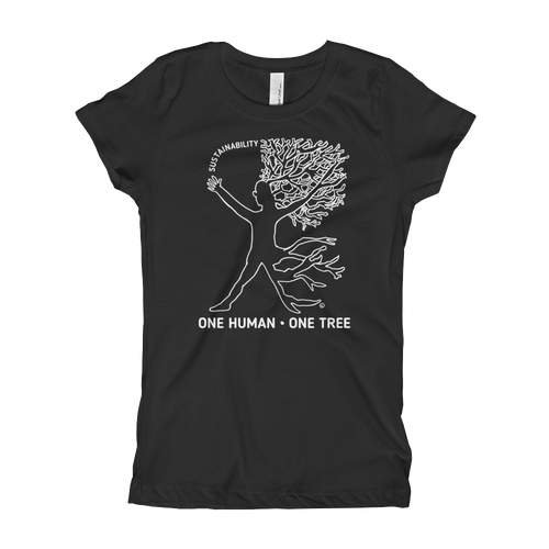 Girl's T-Shirt- ONE HUMAN, ONE TREE