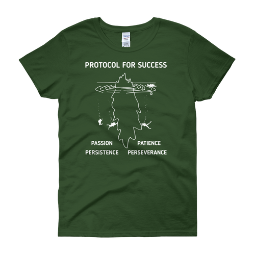 Women's short sleeve t-shirt- PROTOCOL FOR SUCCESS