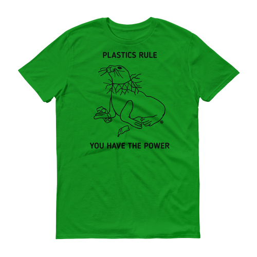 Short sleeve t-shirt - PLASTICS RULE