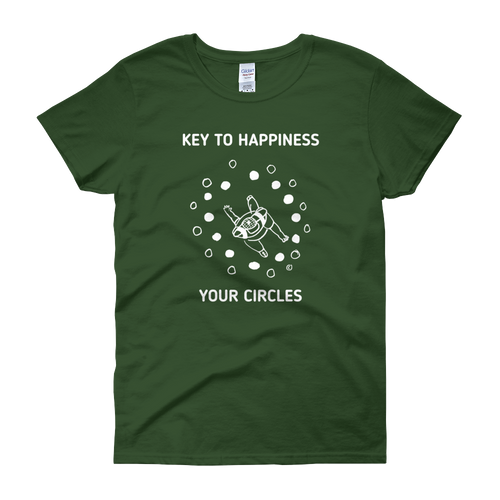 Women's short sleeve t-shirt- KEY TO HAPPINESS