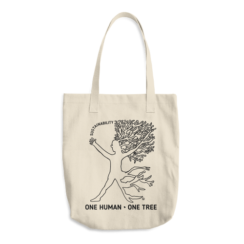 Cotton Tote Bag - ONE HUMAN, ONE TREE