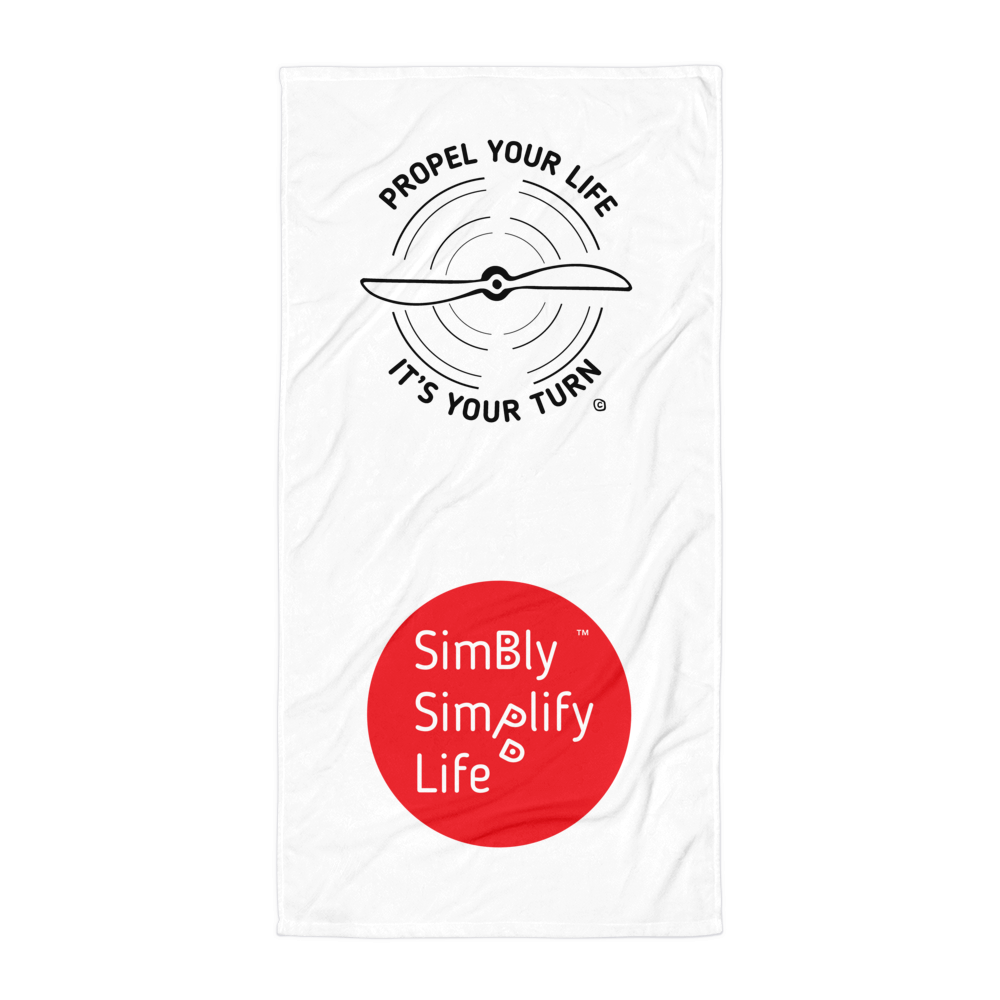 Beach Blanket- SIMBLY SIMPLIFY LIFE- PROPEL YOUR LIFE, IT'S YOUR TURN