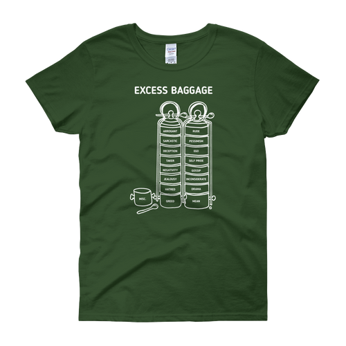 Women's short sleeve t-shirt- EXCESS BAGGAGE