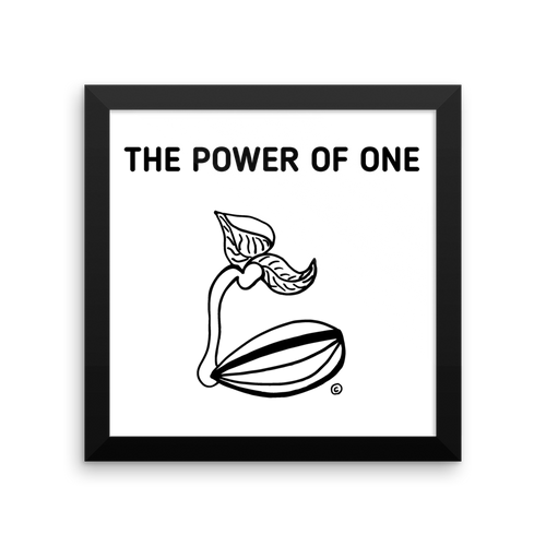 Framed photo paper poster- THE POWER OF ONE