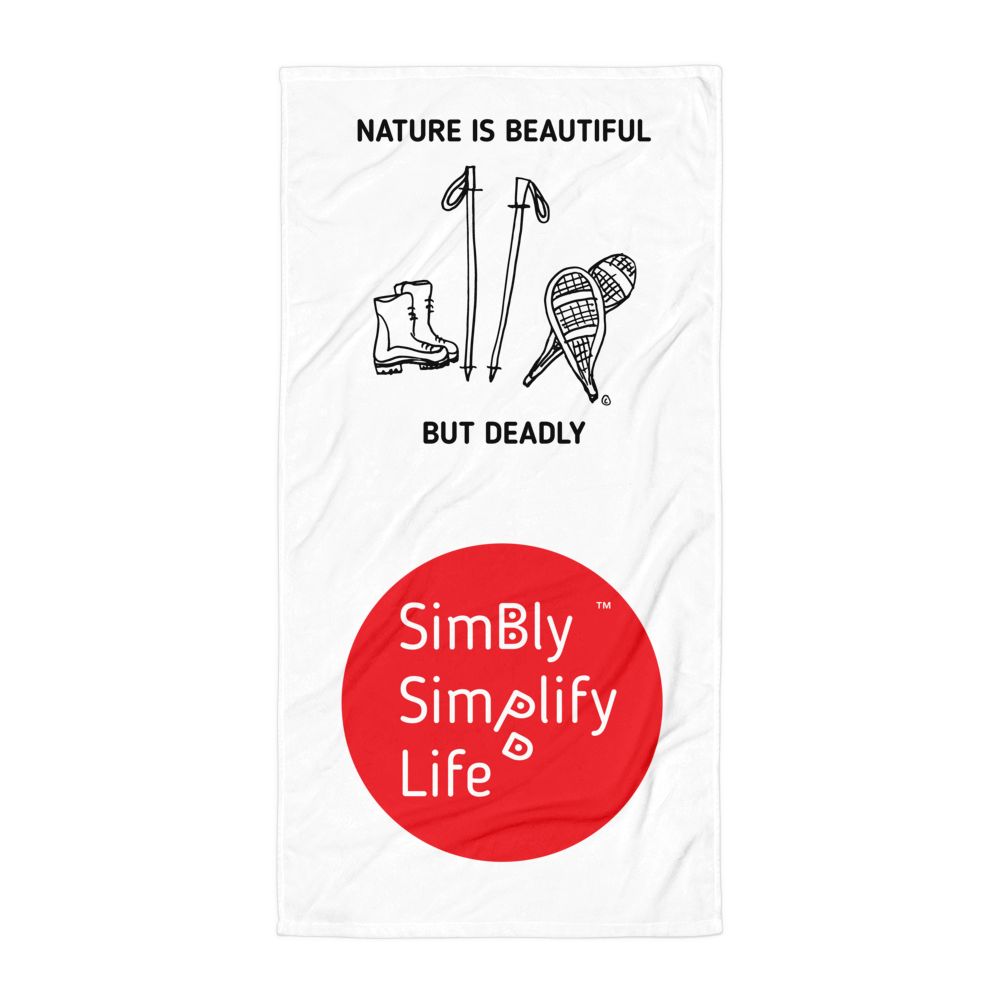 Beach Blanket-SIMBLY SIMPLIFY LIFE- NATURE IS BEAUTIFUL, BUT DEADLY
