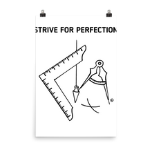 Photo paper poster-STRIVE FOR PERFECTION