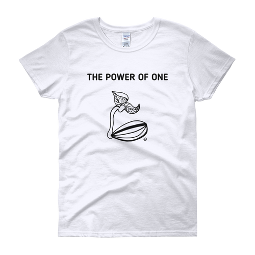 Women's short sleeve t-shirt- THE POWER OF ONE