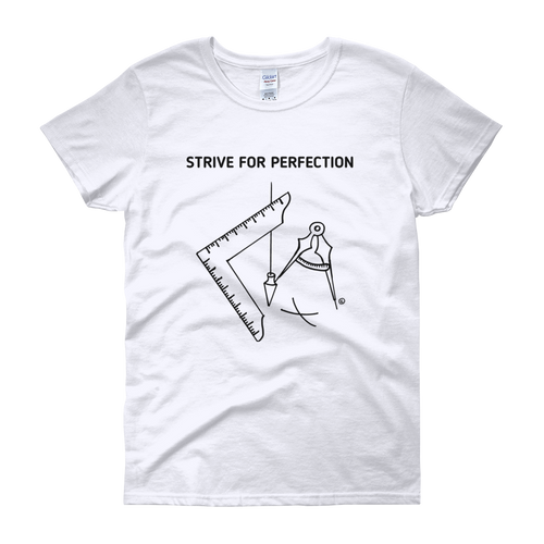 Women's short sleeve t-shirt-STRIVE FOR PERFECTION